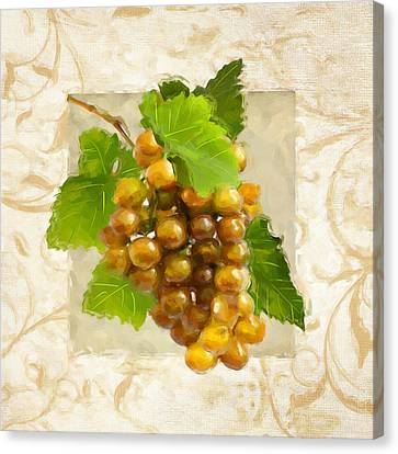 Pinot Gris II Canvas Print by Lourry Legarde
