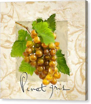 Pinot Gris Canvas Print by Lourry Legarde