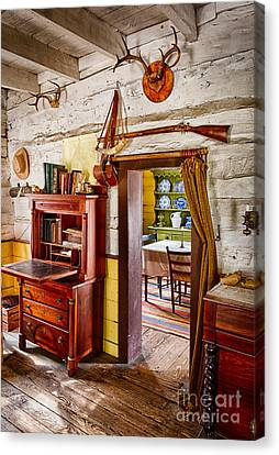 Pioneer Dining Room Canvas Print by Inge Johnsson