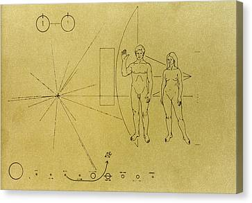 Pioneer Plaque, 1972 Canvas Print by Granger