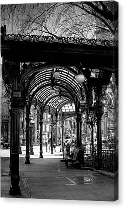 Pioneer Square Pergola Canvas Print by David Patterson