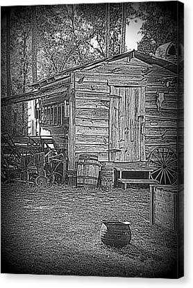 Pioneer Tool Shed Canvas Print by Sheri McLeroy
