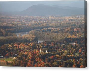Pioneer Valley Fall Foliage From Holyoke Range Canvas Print by John Burk