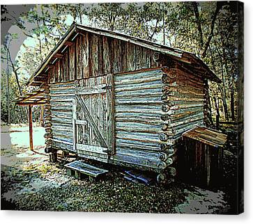 Pioneer Woodshed Canvas Print by Sheri McLeroy