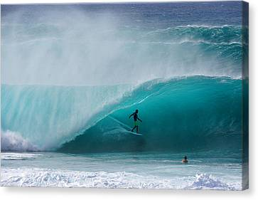 Pipeline Free Surf Canvas Print by Kevin Smith