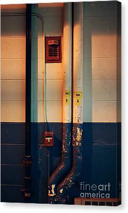 Pipes And Lines Canvas Print by Frank J Casella