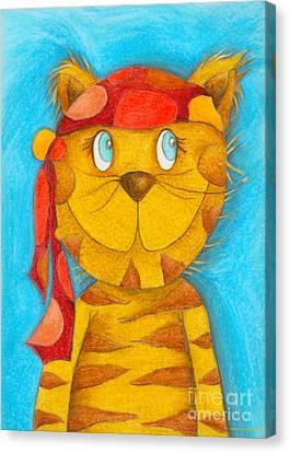 Pirate Cat Canvas Print by Sonja Mengkowski