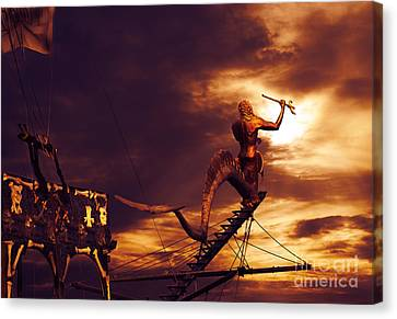 Pirate Ship Canvas Print by Jelena Jovanovic