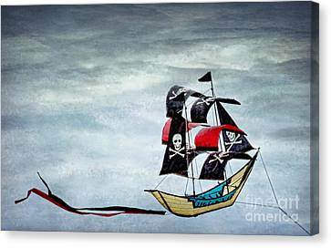 Pirate Ship Canvas Print by Peggy Hughes