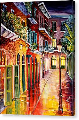 Pirates Alley By Night Canvas Print by Diane Millsap