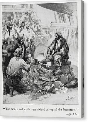 Pirates Sort Through Their Plunder Canvas Print by British Library