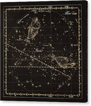 Pisces Constellation, 1829 Canvas Print by Science Photo Library
