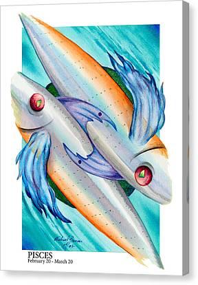 Pisces Canvas Print by Michael Baum