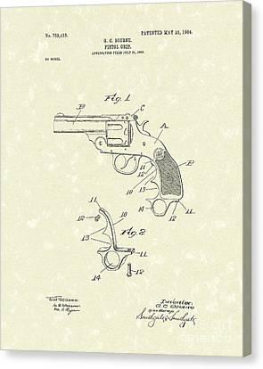Pistol Grip 1904 Patent Art Canvas Print by Prior Art Design