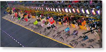Pit Road Canvas Print by Kenneth Krolikowski