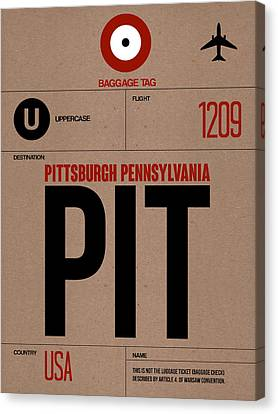 Pittsburgh Airport Poster 1 Canvas Print by Naxart Studio