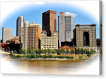 Pittsburgh In The Spotlight Canvas Print by Frozen in Time Fine Art Photography