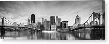 Pittsburgh  North Shore Canvas Print by Emmanuel Panagiotakis