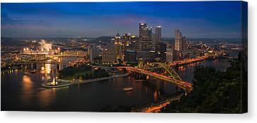 Pittsburgh Pa Canvas Print by Steve Gadomski