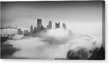 Pittsburgh Pano 8 Canvas Print by Emmanuel Panagiotakis
