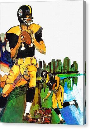 Pittsburgh Steelers 1967 Vintage Print Canvas Print by Big 88 Artworks