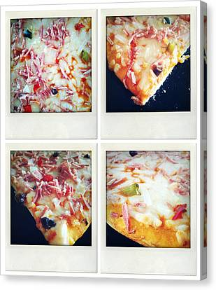 Pizza Canvas Print by Les Cunliffe