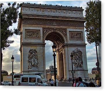 Place Charles De Gaulle  Canvas Print by Paris  France
