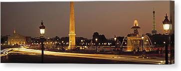 Place De La Concorde Paris France Canvas Print by Panoramic Images