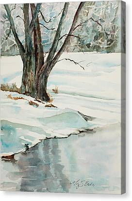 Placid Winter Morning Canvas Print by Mary Benke