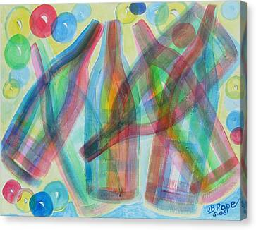 Plaid Wine Canvas Print by Diane Pape