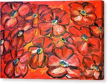 Plaisir Rouge Canvas Print by Ramona Matei