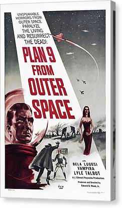 Plan 9 From Outer Space, Vampira, 1959 Canvas Print by Everett