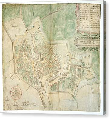 Plan Of Flushing Canvas Print by British Library