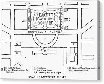 Plan Of Lafayette Square Canvas Print by Granger