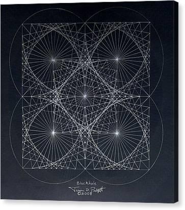 Plancks Blackhole Canvas Print by Jason Padgett