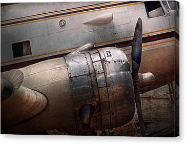 Plane - A Little Rough Around The Edges Canvas Print by Mike Savad