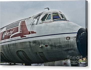 Plane Capital Airlines Canvas Print by Paul Ward