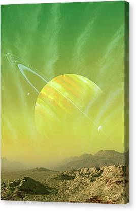Planet Around Upsilon Andromedae Canvas Print by Mark Garlick