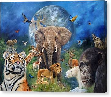 Planet Earth Canvas Print by David Stribbling