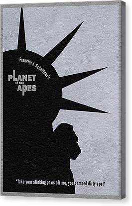 Planet Of The Apes Canvas Print by Ayse Deniz