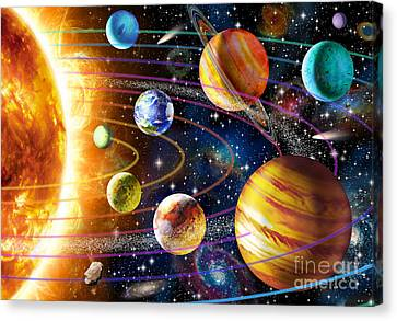 Planetary System Canvas Print by Adrian Chesterman