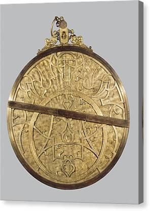 Planispheric Astrolabe. 1569 Canvas Print by Everett