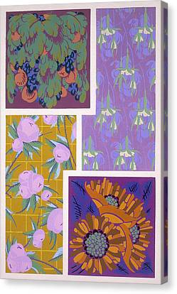 Plate 11, From Forms And Colours, C.1930 Canvas Print by Auguste H. Thomas