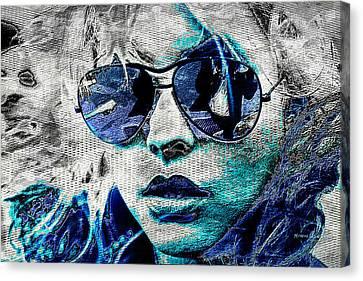 Platinum Blondie Canvas Print by Absinthe Art By Michelle LeAnn Scott