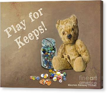 Play For Keeps - Marbles Canvas Print by Maureen Tillman
