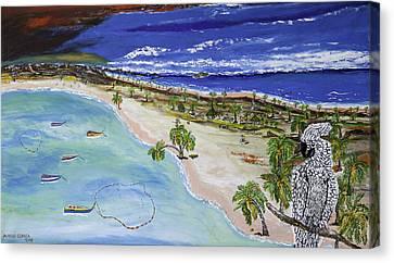 Playa Secreta Canvas Print by Alfredo Correa