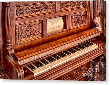 Piano Keys In The Key Of Life Canvas Print by Inge Johnsson