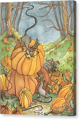 Playful Rats Canvas Print by Priscilla  Jo