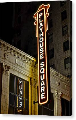 Playhouse Square Canvas Print by Frozen in Time Fine Art Photography