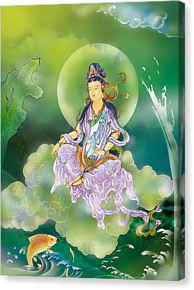 Playing Avalokitesvara   Canvas Print by Lanjee Chee